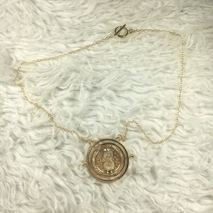 Harry Potter Golden Time Turner Replica Necklace